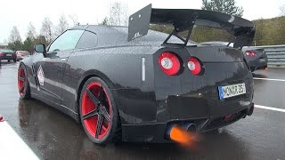 1500HP NISSAN GT-R R35 SHOOTING FLAMES!