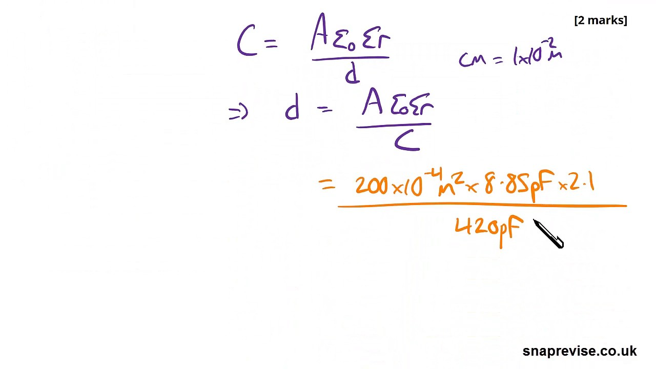 Capacitor Discharge Exam Style Question | A-level Physics | AQA, OCR,  Edexcel