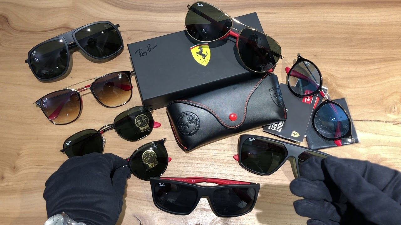 Ray Ban Ferrari Collection обзор Youtube