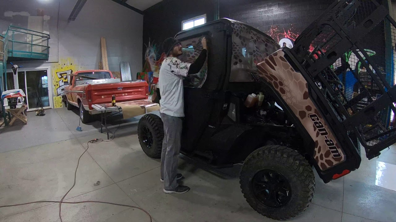 Vinyl Wrapping a 2018 Can-am Defender