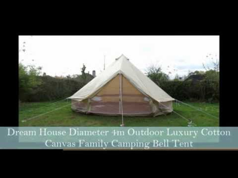 & Dream House Cotton Canvas Family Camping Bell Tent - YouTube