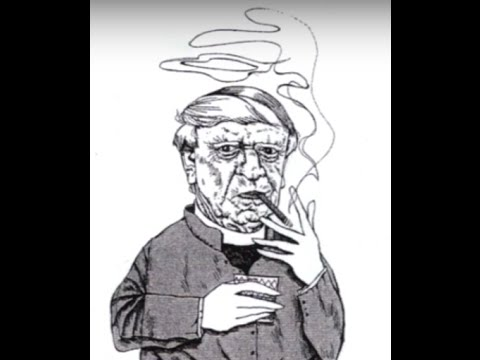 Anthony Burgess caricatured