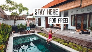 How To Stay FOR FREE in Bali (and everywhere else)! + Brunch & Surfing in Canggu!