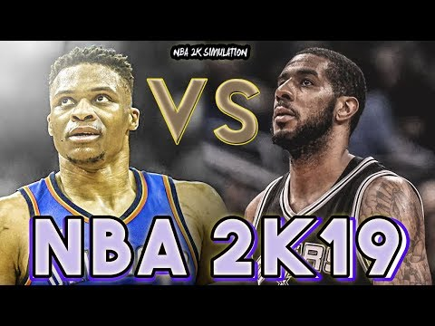 Oklahoma City Thunder vs San Antonio Spurs - FULL GAME - NBA 2K19