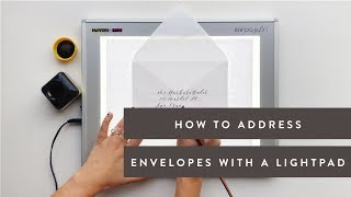 How to Address EnveĮopes in Calligraphy using a Lightpad