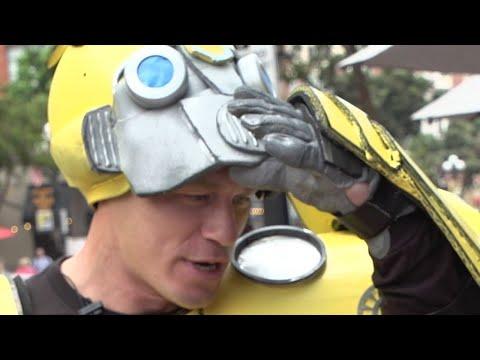 John Cena Surprises Fans as Bumblebee  Comic Con 2018