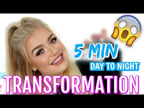 5 MINUTE DAY TO NIGHT MAKEUP TRANSFORMATION | Lucy Flight