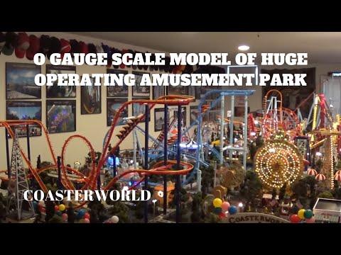 Modelling Railway Toy Train Track Plans -Remarkable Coasterworld: O gauge scale model of HUGE operating amusement park