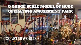 Coasterworld: O gauge scale model of HUGE operating amusement park