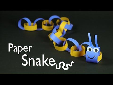Paper Crafts for Kids - Paper Snake DIY Tutorial