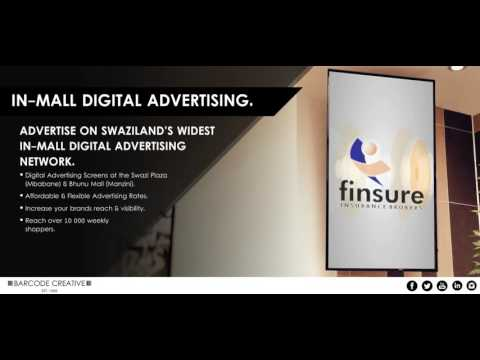 Barcode Creative In-Mall Digital Advertising (Client: Finsure Insurance Brokers)