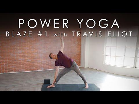 """30min. Power Yoga """"Blaze #1"""" with Travis Eliot"""