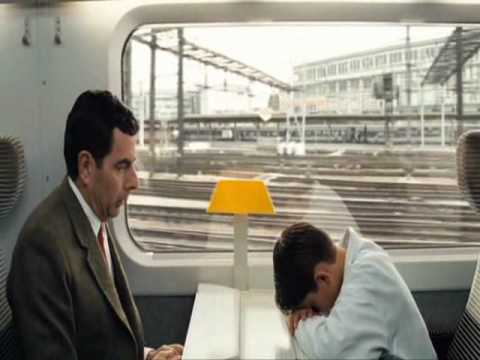 Mr. Beans Holiday, scène; Ontmoeting met kind in de trein..wmv