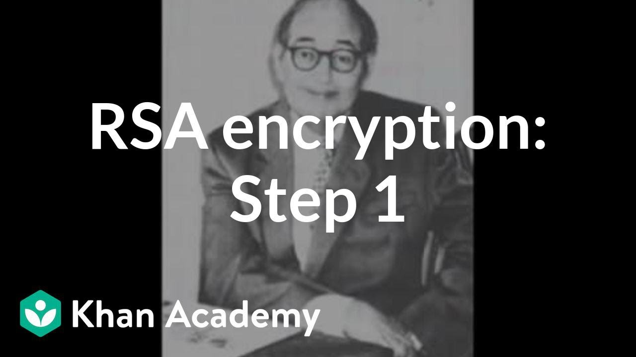 RSA encryption: Step 1 (video) | Khan Academy