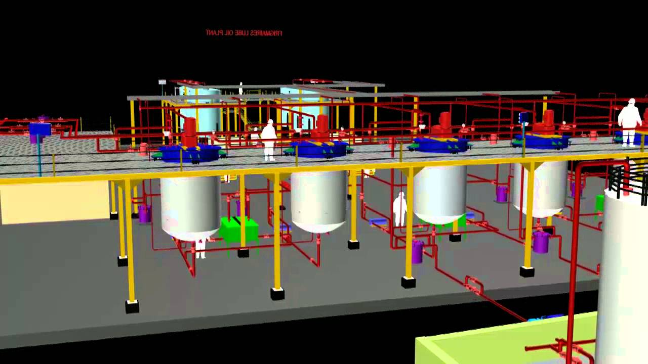 Lube Oil Plant 120mt  Day Plant 3d Presentation