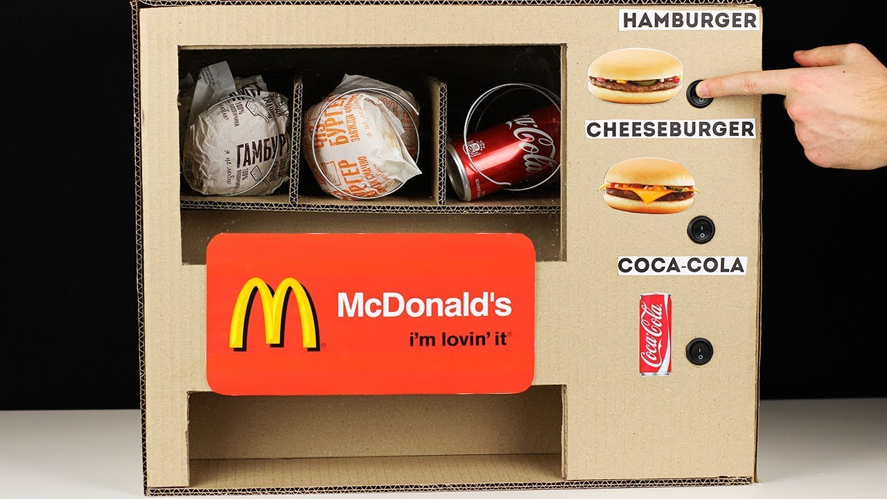 How To Make Mcdonalds Vending Machine Dispenser Mcdonalds For Cheeseburger Hamburger Coca Cola