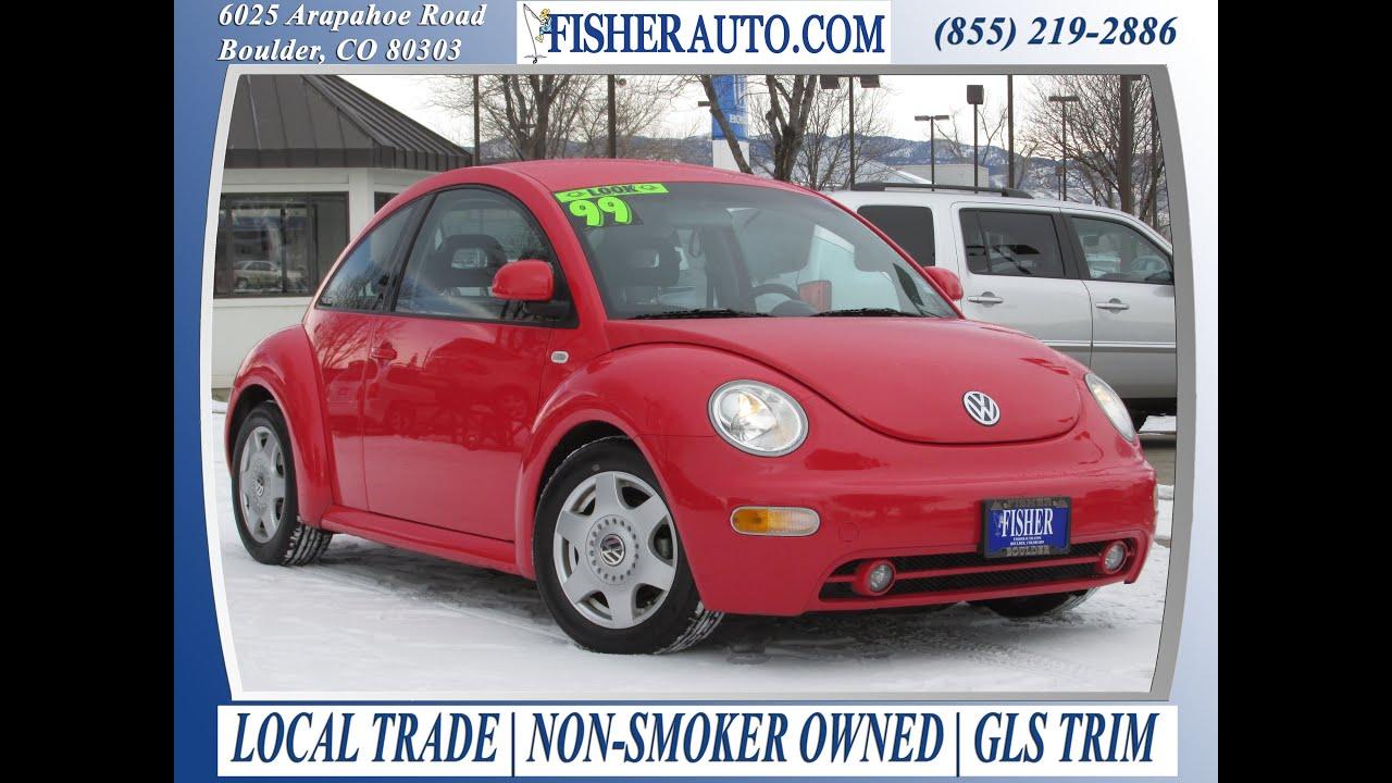 Cars under 10 000 1999 vw beetle gls red 5 900 longmont denver boulder fisher auto 146551d youtube