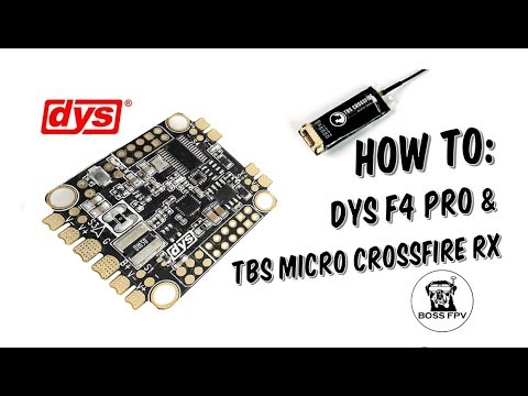 Connecting DYS F4 pro to TBS micro crossfire RX - FPV Playlist
