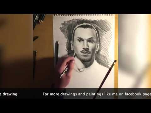 Zlatan Ibrahimović Time lapse drawing by Ismar Ruznic