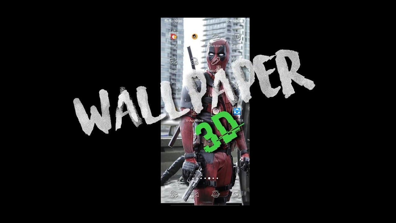 CARA MEMBUAT WALLPAPER 3D KEREN