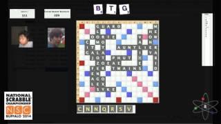 2014 National Scrabble Championship Game 28: Jason Li vs. Conrad Bassett Bouchard