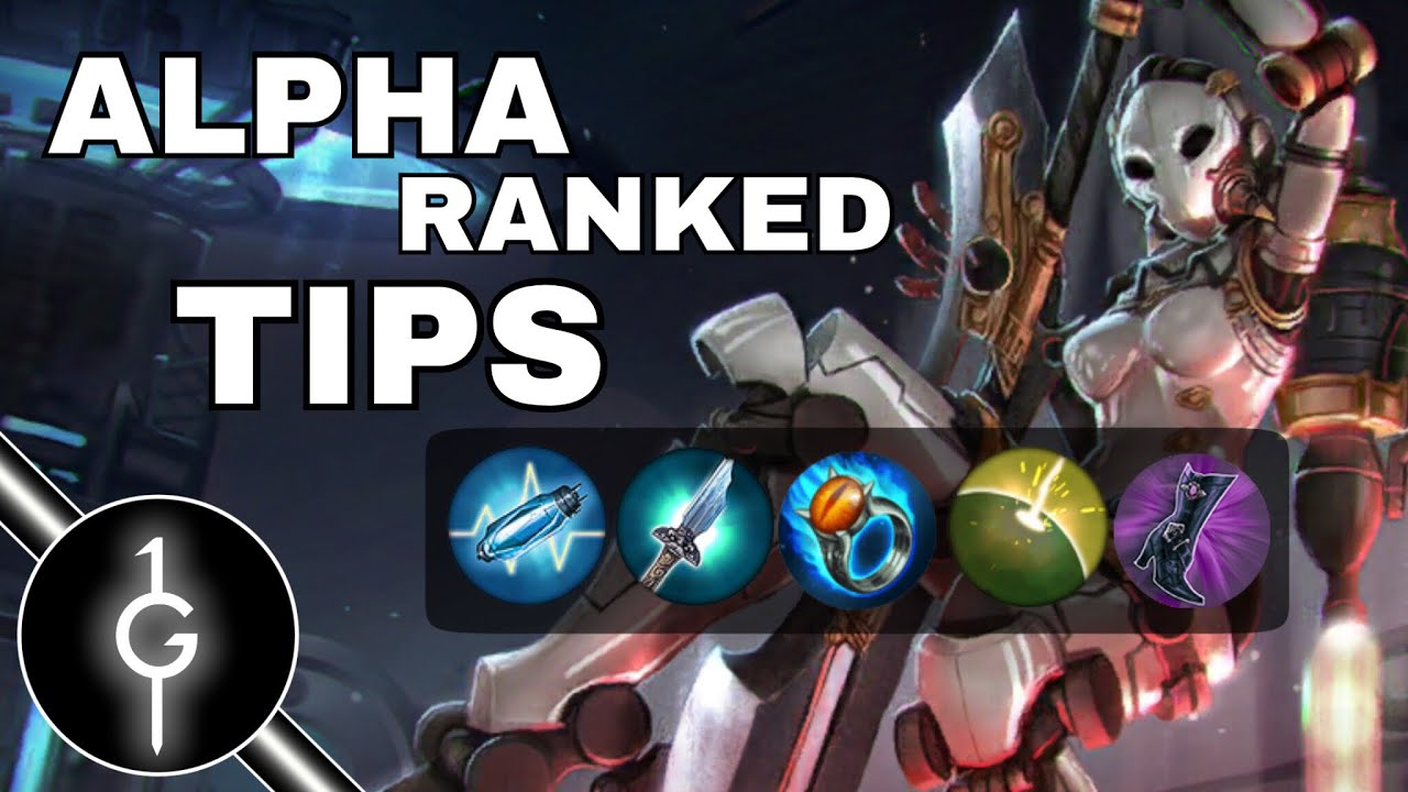 Vainglory Alpha Crystal Build Ranked Tips 2018 | Road To PoA | Vainglory  Update 2.11