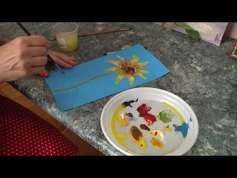 Телеканал UA: Житомир: Вчимося вдома: малюємо квітку ехінацеї_Ранок на каналі UA: Житомир 20.07.18