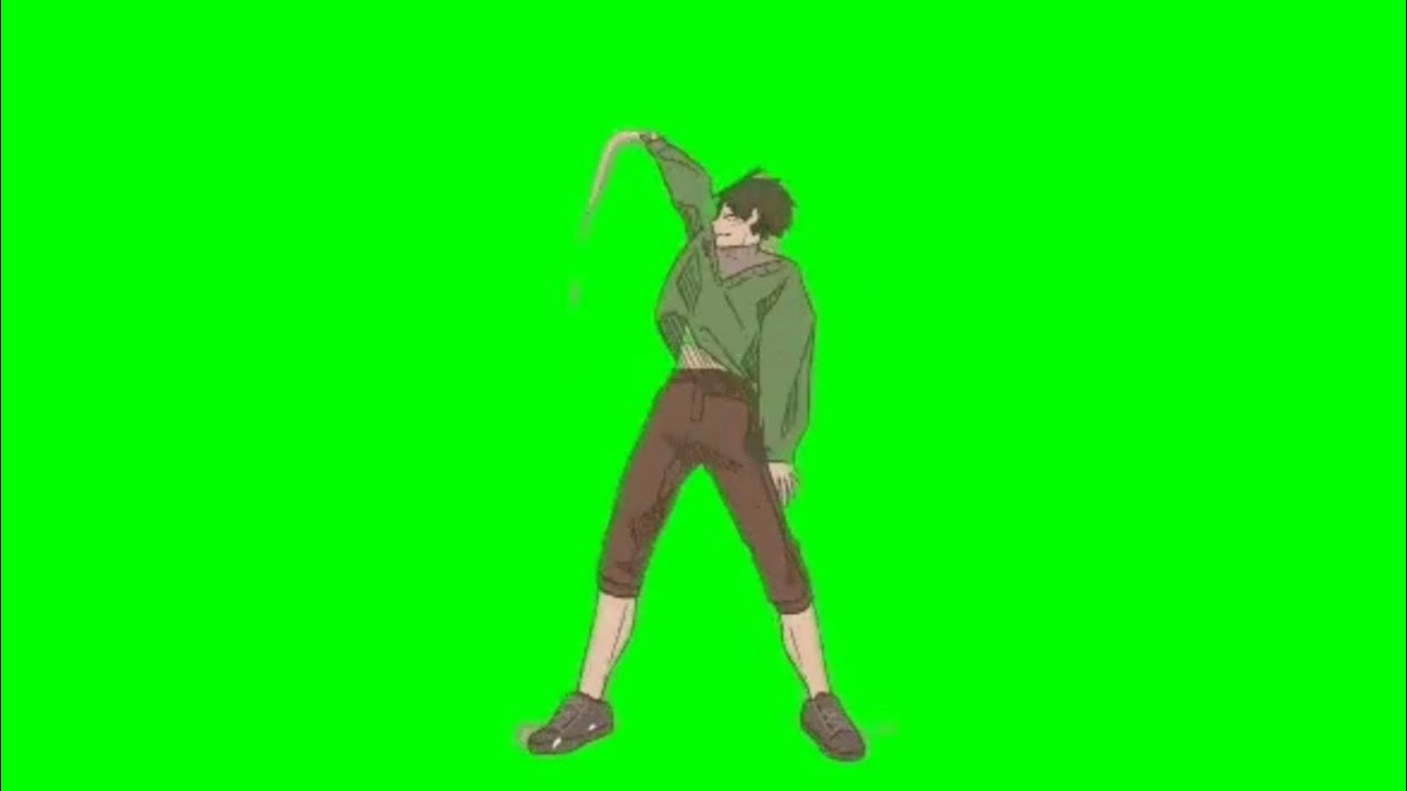 Anime Dance Green Screen (with Music) part #3