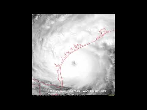 Hurricane Harvey - 25th August - Recent Video from NASA GOES 16 satellite