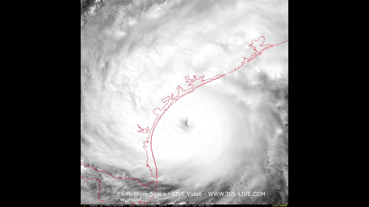 Hurricane Harvey Th August Recent Video From NASA GOES - Recent satellite pictures
