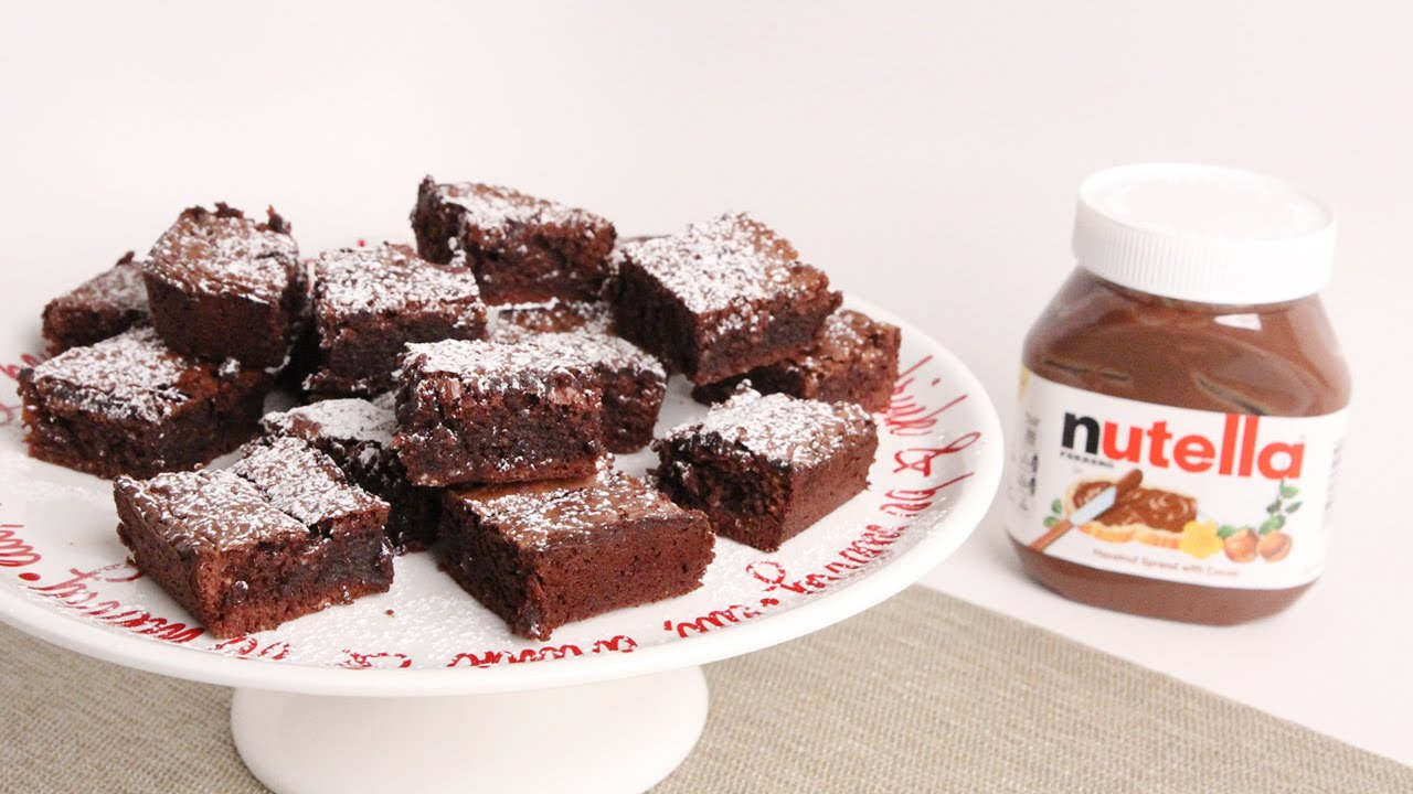 Nutella Brownies Recipe - Laura Vitale - Laura in the ...