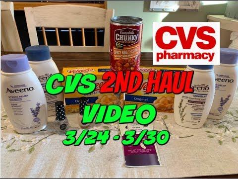CVS 2ND HAUL VIDEO 3/24 – 3/30 | CHEAP AVEENO & MORE!