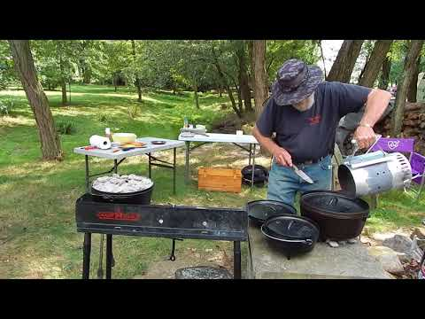 Jeff and Chuck Dutch Oven Cooking