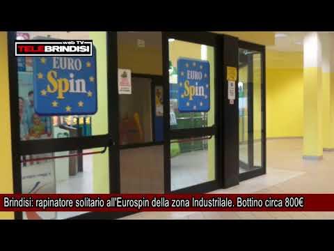Brindisi, rapinatore solitario all'Eurospin della zona Industrilale  Bottino circa 800€