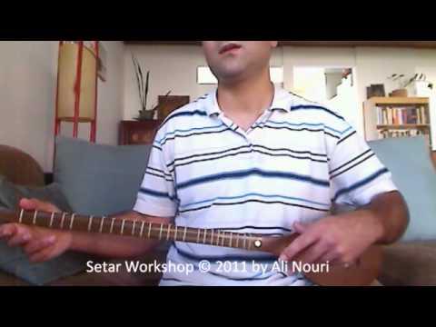 Persian Setar Workshop video 4: Lesson 1 to 8, Ketabe Aval Honarestan