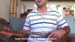 Persian Setar Workshop video 4: Lesson 1 to 8, Ketabe Aval Honarestan