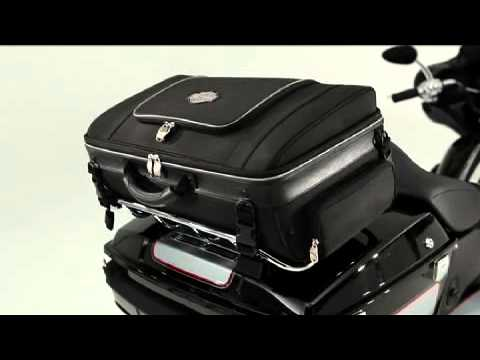 harley davidson tour pak rack bag youtube. Black Bedroom Furniture Sets. Home Design Ideas