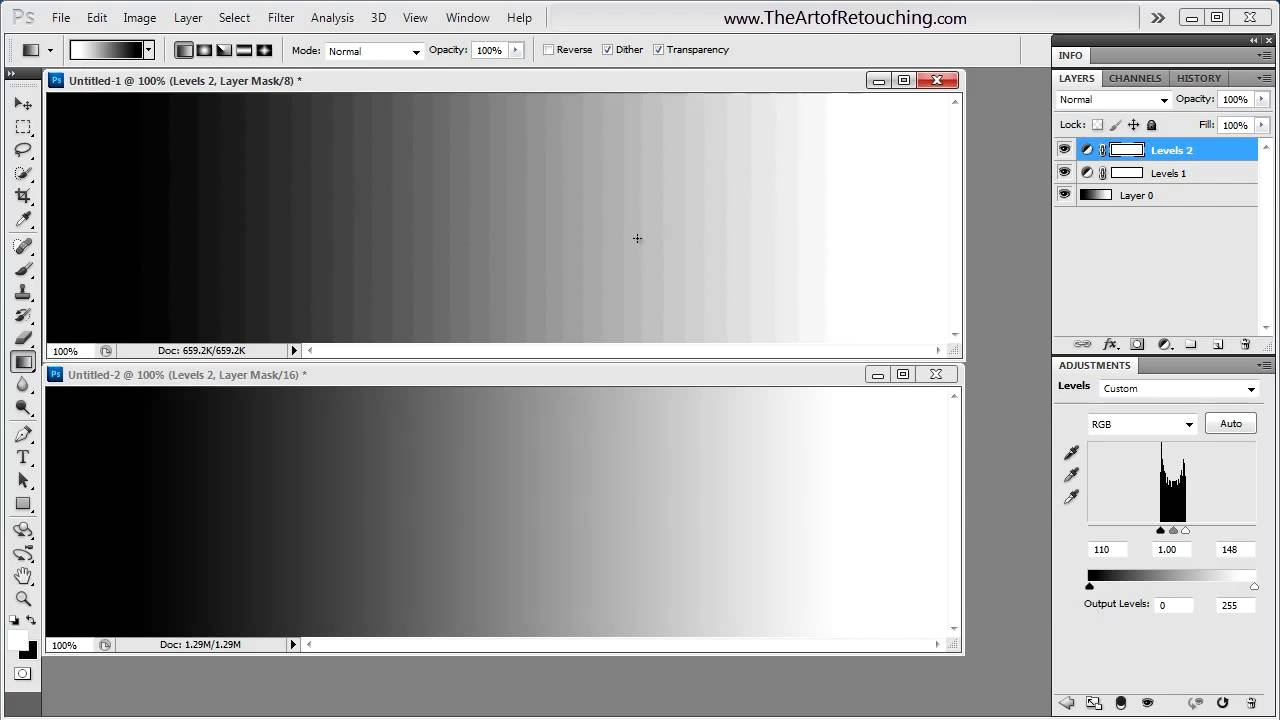 Difference of 8-Bit and 16-Bit Bit Depth - Photoshop ...