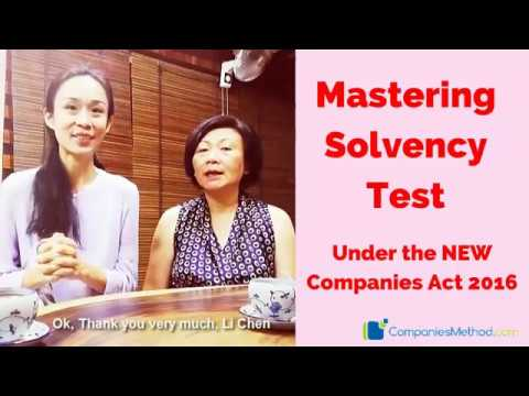 Practical Guide to Mastering Solvency Test Under the NEW Companies Act 2016