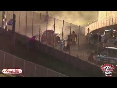 Angell Park Speedway Legends Crash 7/3/16