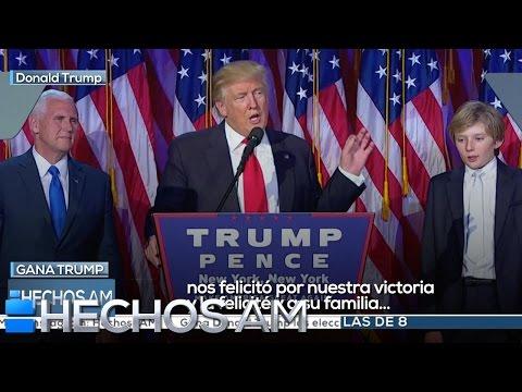 VIDEO: DONALD TRUMP PRESIDENTE 45 DE LOS ESTADOS UNIDOS. SORPRESA MUNDIAL.
