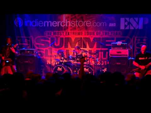 """Dying Fetus """"Praise the Lord (Opium of the Masses)"""" Live 8/2/11"""