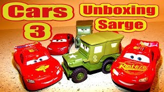 Pixar Cars Unboxing Sarge Cars 3 and Important Message to all Subscribers