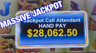 GRANDE JACKPOT/ MASSIVE JACKPOT WIN FREE GAMES/ HARBOR FESTIVAL SLOT MACHINE