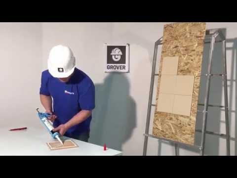 Чем приклеить плитку в ванной? Монтаж тяжелых конструкций во влажных помещениях. Клей Grover GA 110