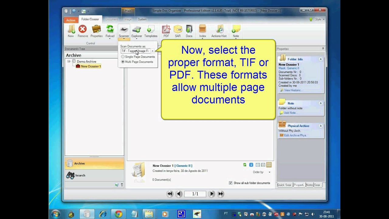 how to make a multi page pdf scan