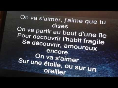 On va s'aimer (avec paroles)