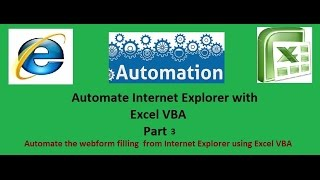 Automate Internet Explorer with Excel VBA Part 3- Automatic web form filling