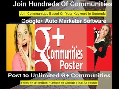Google Plus Community Auto Poster Software Google+