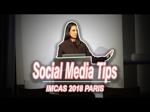 My Social Media Talk at IMCAS Paris | Nazarian Plastic Surgery